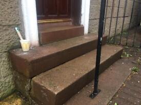 3 concrete steps 1515 x 300 x 185 free to uplift