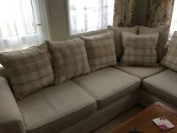 Schriber corner sofa 15 months old, very good condition , smokefree home, collection only.