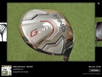 Ping G20 driver 10.5 with the ping tfc stiff shaft