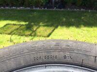 4 Michelin Green X Tyres 205/55 r16 91v