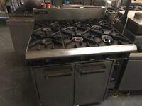 Commercial 6 burner cooker catering resturant hotels pubs cafe job lot equipments