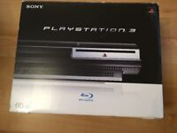 PS3 console boxed and 64 games some still new and wrapped