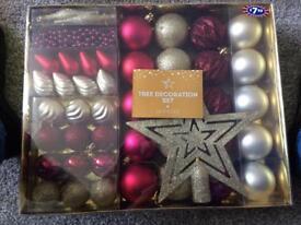 50 piece Christmas decoration set new
