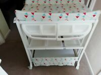 Changing table and bath