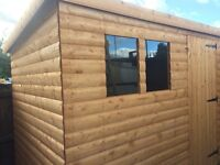 Brand new 8x6 garden 19mm log shed