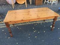 Large Solid Pine Farmhouse Table