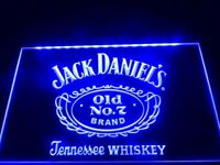 BRAND NEW & UNUSED JACK DANIELS OLD NO.7 NEON LED BAR LIGHT WITH HANGING CHAIN & POWER LEAD.