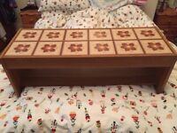 Vintage Tiled coffee/side table - very cool with funky retro tiles