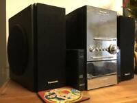 Panasonic Hi-Fi with 5 CD changer, cassette player and radio