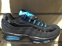 Nike air max 95 blk/hyper blue 6,7,8,9,10,11