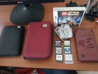selling nintendo dsi XL wine colour with 7 games 40pound smithswood