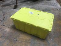 heavy duty plastic storage boxes 80 litre x5