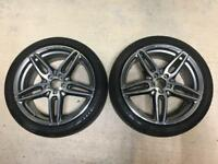 "GENUINE Mercedes AMG 19"" alloy wheels with Goodyear Tyres - Pair"