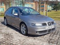 2002 SEAT LEON 1.8 20V TURBO CUPRA 180BHP, PETROL, MANUAL, 5 DOORS HATCHBACK, LONG MOT, P/X TO CLEAR