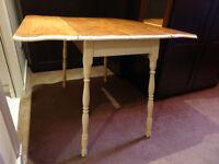 Antique farmhouse drop-leaf kitchen table