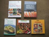 5 Various Hardback Cookery Books in Full Colour for £2.00 ONLY EACH OR All 5 for £8.00
