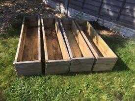 Wooden decking planters