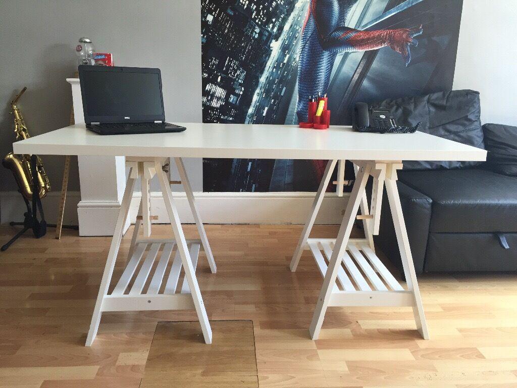 Ikea desk finnvard linnmon in lewisham london gumtree