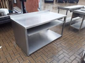 Stainless steel Commercial prep tables cupboards