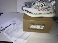 ADIDAS x Kanye West Yeezy Boost 350 V2 ZEBRA White/Black UK7.5 CP9654 ADIDAS RECEIPT 100sales