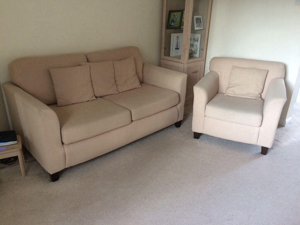 3 piece suite in Natural colour