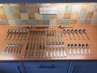 44 Piece Kings Silver Cutlery set