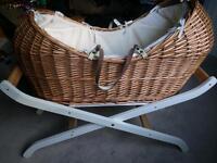 Wicker Moses basket