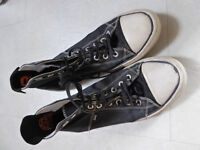 Superdry baseball boots, Converse style, size 8