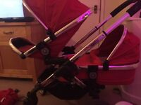 Icandy peach double pram