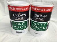 Crown Magnolia Paint x2 6L Tubs