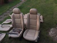 BMW e46 coupe full cream leather interior