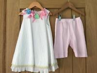Little Darlings Dress & Bloomers Set - 3 Years RRP £85