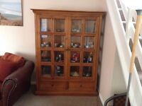 Pine display cabinet for sale