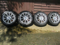 4 x BMW Alloy wheels with Pirelli Sottozerto 245 50 R 18 Runflat WINTER tyres
