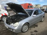 Mercedes e220 cdi w211 breaking available bumper bonnet wing light radiator seats doors alloy wheels