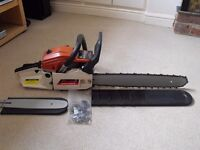 "20"" & 12"" NEILSEN 53CC PETROL CHAINSAW WITH 2 X BARS, 2 X CHAINS & COVERS"