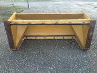 6 foot snow pusher / skid steer mount
