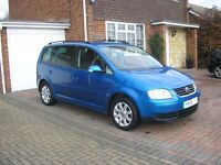 ( 2005 ) VW TOURAN 1.9 TDI SE MET/BLUE 7 SEATER ESTATE ( FSH 11 STAMPS IN SERVICE BOOK)