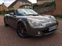 *12 MTHS WARRANTY*2004(54)TOYOTA MR2 ROADSTER 18 VVTI 6 SPEED CONVERTIBLE WITH FULL LEATHER*2 KEYS*