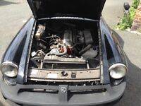 MGB Engine, gearbox, rollng shell and other parts