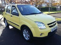 2006/06 Suzuki Ignis 4Grip 1.5 VVT, yellow, 4WD, 95k, FSH, long MOT, newly serviced, vgc