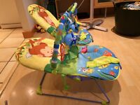 Musical Melodies Baby Bouncers / Rockers With Activity Bars - 3 Recline Positions and Vibrate Too!