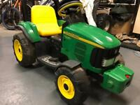 Kids Electric John Deere Tractor and Trailer