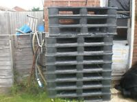 Plastic pallets ideal for under sheds / playhouses / keeping straw on etc etc
