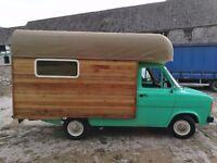 Vintage 1979 MK2 Transit Camper Food Wagon business glamping Campervan