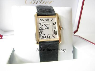 CARTIER TANK SOLO LARGE 18K YELLOW GOLD W5200004 CARTIER CERTIFICATE & BOX !!!