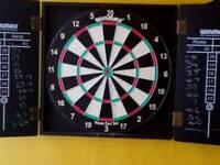 HARDLY USED IN GREAT CONDITION DARTBOARD SET