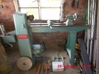 UNION JUBILEE WOODTURNING LATHE WITH BOWL ATTACHMENT & 2 FACE PLATES