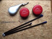 Martial Arts, 3 Bar Metal Leg Stretcher c/w paddle and 2No Pads