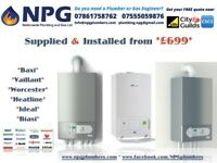 Combi Boiler + SUPPLIED & FITTED + 5 Years Warranty = £699 Biasi Riva Plus 28kW ErP A Rated Midlands